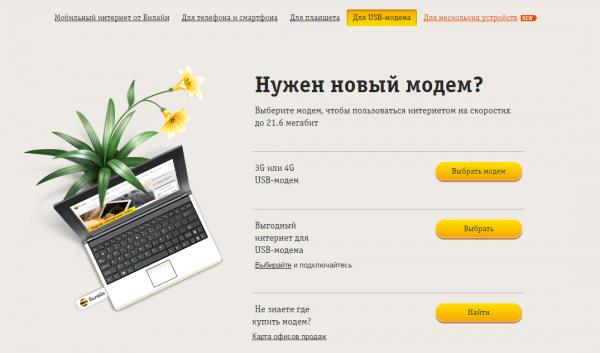 Домашний интернет Билайн